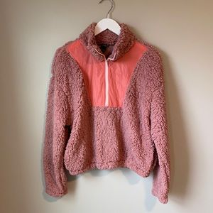 Wild Fable Fuzzy pink sweatshirt. Size Small